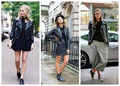 Trendy Faux Leather Black Biker Jackets