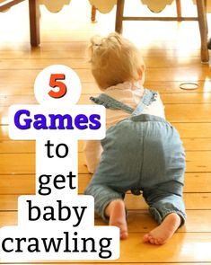 Here are 5 quick and easy games that help baby learn to crawl! Learning to crawl is such a fun milestone for little ones to reach. These activities help strengthen muscles and get baby crawling! Kids Learning Activities, Baby Learning, Infant Activities, Teaching Babies, Sensory Activities, Teach Baby To Crawl, Baby Tummy Time, Kids Fever, Baby Workout