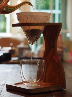 Hario V60 with olive wooden stand