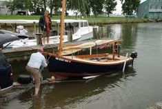 Daysailers - 15' Cold Molded Catboat--MARSH CAT