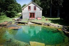 Natural stone organic pool