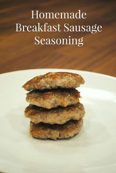 Breakfast Sausage Seasoning.  A clean seasoning blend that tastes delicious.  Use it in ground pork, turkey, or really any ground meat.  Whole 30 approved.