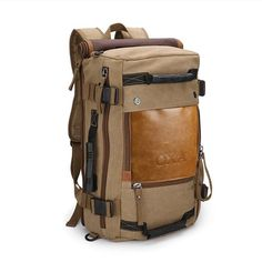 OXA Vintage Canvas Travel Backpack * Additional details at the pin image, click it  : Travel Backpack