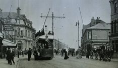 Grimsby Borough Police Constable and electric tram, Cleethorpes Rd, Grimsby, Police Crime, Belle Epoque, Britain, Electric, Street View, History, Historia
