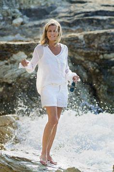 Au fil de l'eau. Claire Chazal. Devoirs de Vacances - Paris Match