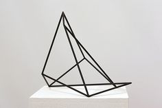 George Papadimas    Untitled, (distorted cube) 5/4. 2010  Enamel on stainless steel, 35cm x 35cm x 35cm.