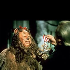 The Cowardy Lion gets his courage-The Wizard of Oz