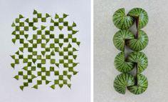Sakir Gökçebag, Le photographe Turc  aime les courbes, les lignes, les rectangles ainsi que les fruits. Dans la série d'images Géometrie Food Art, il mélange des fruits comme la pomme, la pastèque pour en faire des formes géométriques. Un travail précis et structuré que nous présente l'artiste qui a du gout :