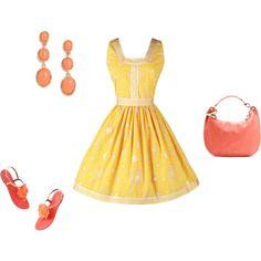 """""""Warm Spring - yellow/orange"""" by adriana-cizikova on Polyvore"""