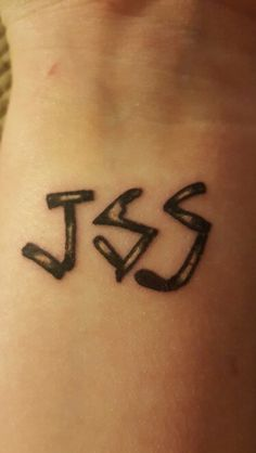 JSS Tattoo - The Walking Dead this would be cool because its like in the show when it was written with the turtle bones...ew... (For the tattoo we will say sticks) but I can't decide if I want that or if I want it in pretty lettering and all written out
