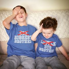 2 boys custom shirts Little Big Biggest Brother shirts Custom Design by OodlesDecals on Etsy