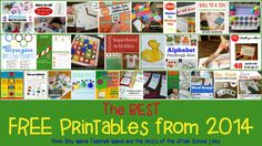 Best FREE Printables of 2014 {After School Linky}