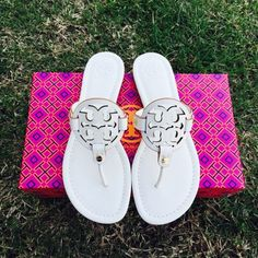 {Tory Burch} Ivory Miller Brand new in box. Made in Brazil. Please know/be familiar with your own Tory Burch size. ❗️Price is firm, even when bundled❗️  ❌ No Trades/ No PayPal  ❌ No Lowballing  ✅ Bundle Discounts ✅ Ship Same or Next Day  % Authentic Tory Burch Shoes Sandals