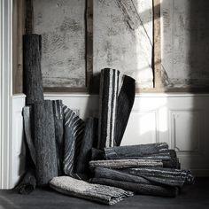 Dywan HAMMERING Black Skóra 70x140 - Broste Copenhagen - DECORTIS.COM