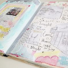 Journal pages using cutouts