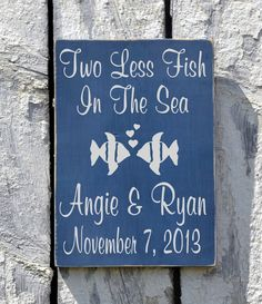 Personalized Wedding Sign Beach Outdoor Lake Weddings Gift Cobalt Blue Rustic Wood Signs Shower Table Summer Nautical Destination Ceremony - The Sign Shoppe