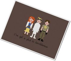 Pixel People - Dr. Horrible's Sing Along Blog - PDF Cross-stitch Pattern - INSTANT DOWNLOAD on Etsy, $5.00