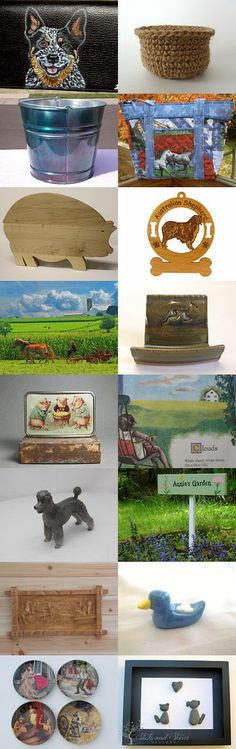 SPRING ON THE FARM by William Rosenberg on Etsy--Pinned with TreasuryPin.com