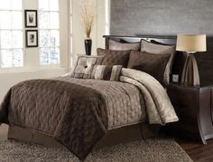 8pc Hammel Taupe/ Brown Comforter Set Size: King