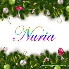 Postales navideñas con nombres: Nuria.