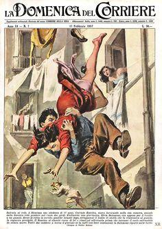 Illustration by Walter Molino Pin Ups Vintage, Vintage Art, Pulp Fiction Art, Pulp Art, Le Kraken, Vintage Illustration Art, Ligne Claire, Comic Artist, Funny Art