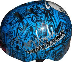Tony Hawk Autographed Blue Huckjam Series Skateboard Helmet, PSA/DNA Authenticated, Proof. This is a brand-new Tony Hawk signed Bell Huckjam series skateboard helmet. Tony signed the helmet in silver paint pen. The helmet includes a PSA/DNA certificate of authenticity, with PSA/DNA authentication certification #X37264. These items have been certified authentic by PSA/DNA. The most reliable 3rd party autograph authenticator in america. The item will come with a PSA/DNA Certificate of…