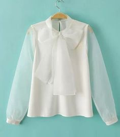 Image result for blouse big bow organza
