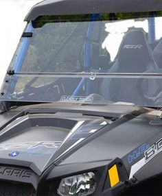 Enjoy your ride with Clearly Tough's precision crafted, hard coated Polycarbonate UTV windshields.