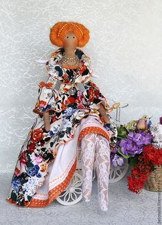 Купить Фея Августина - оранжевый осколок Лета! - оранжевый, кукла ручной работы, кукла в подарок