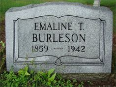 Emaline Tolley  Burleson grave