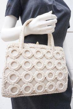 SAc à main en Crochet VINTAGE - Mamamuce Vintage