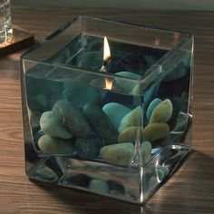 Water & Oil Candle - uses floating candle wicks.