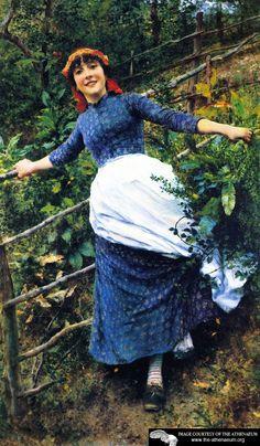 Tending the Garden - Daniel Ridgway Knight