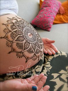 Beautiful mehendi design for expectant mother to be ..would  love to do for my daughter xx