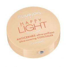 The Bourjois Happy Light Concealer illuminates and smoothes away dark circles. Happy Lights, Bourjois, French Chic, Ivoire, Dark Circles, Concealer, Make Up, Paris, Cosmetics