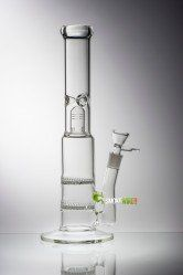 http://www.smokewire.com/double-honeycomb-percolator.html Double Honeycomb 16 inch #honeycombbong
