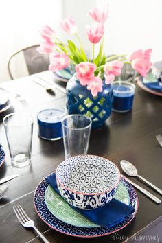 I love these patterned dishes from the BHG line at Walmart! Mix & match :) #sponsored