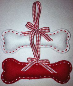 Doggy Bone Felt Christmas Ornament (set of 2)