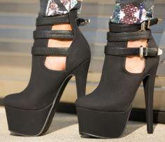 94ebf6808d3 Women s Style Pumps and D orsay Heels Women s Lelia Black Almond Toe  Platform Stiletto Heels Buckles Suede Pumps High Heel Shoes Winter Fashion  Prom Shoes ...