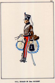 French; 2nd Hussars, Hussar, 1812