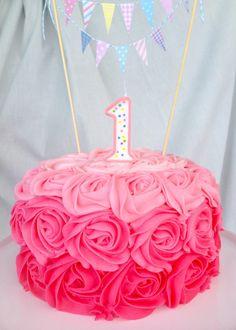 1st Birthday Cake | Martha's Tea Party