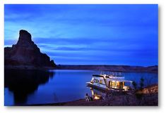 Beautiful Lake Powell with it's warm-enough to swim in blue water and incredible orange cliffs, this destination is a must-see for houseboaters everywhere!