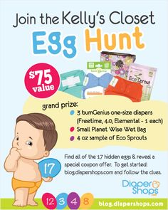 Join the Kelly's Closet Egg Hunt #clothdiapers #egghunt