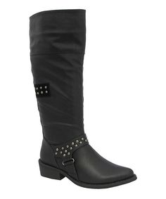 Take a look at the Yoki Black Kelsey Boot on #zulily today!
