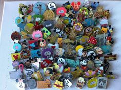Disney Trading Pins-Lot of 25-No Duplicates-LE-HM-Rack-Cast-Free Shipping in Collectibles | eBay