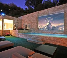 water wall and movie screen in one!