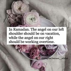 Give the angel on your left shoulder time off and have the angel on the right  work overtime.
