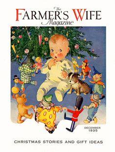 Farmer's Wife Magazine, December 1935. Illustration by Charles Twelvetrees...