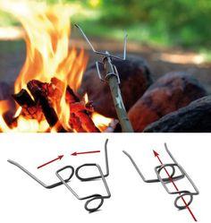 Firefork easy way to roast marshmellows hotdogs