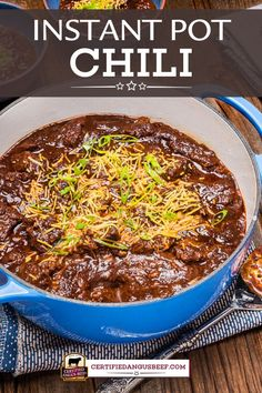 Make this crowd-pleasing comforting recipe to warm up on a cold day, or for game day! Instant Pot Texas-Style Chili is rich, thick, and deeply spiced. #certifiedangusbeef #bestangusbeef #beefrecipe #instantpot #chili #comforting